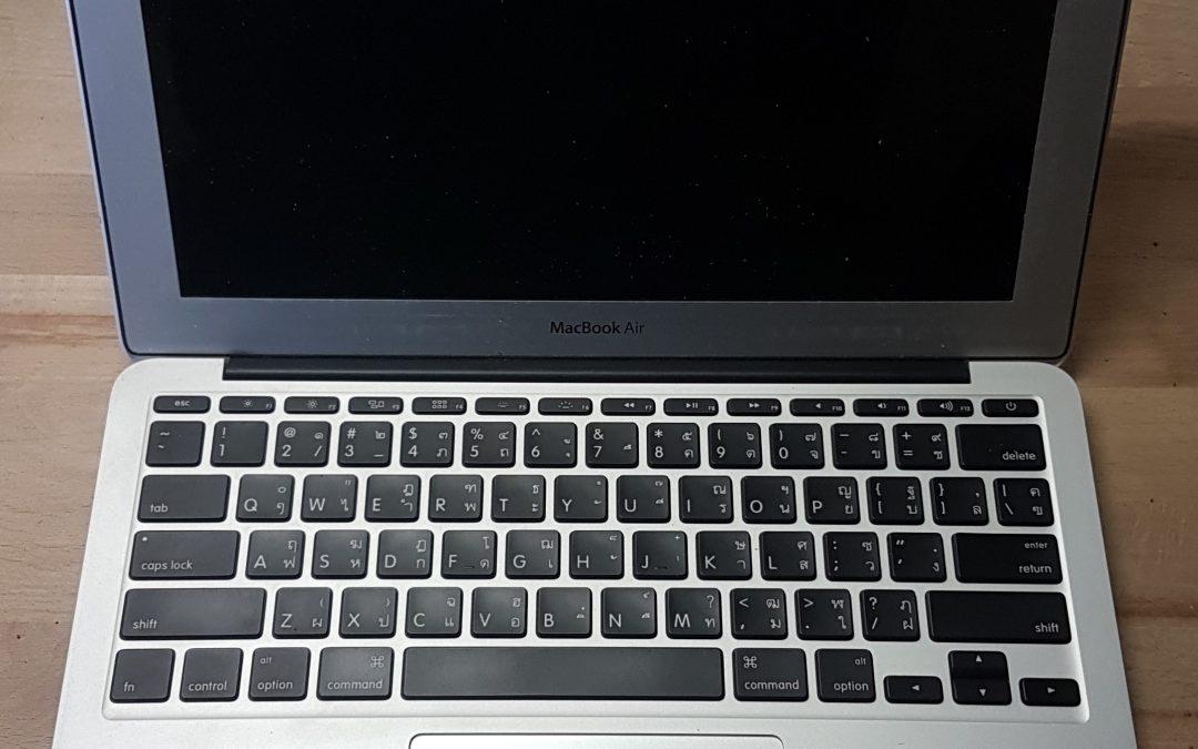 Wasserschaden Macbook Air 11″ Anfang 2015 – Das Problem mit der Badewanne